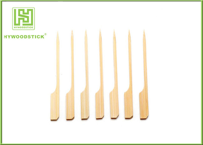 Food Grade Bamboo BBQ Sticks Barbecue Tool Flat Bamboo Paddle Skewers 100pcs / Bag