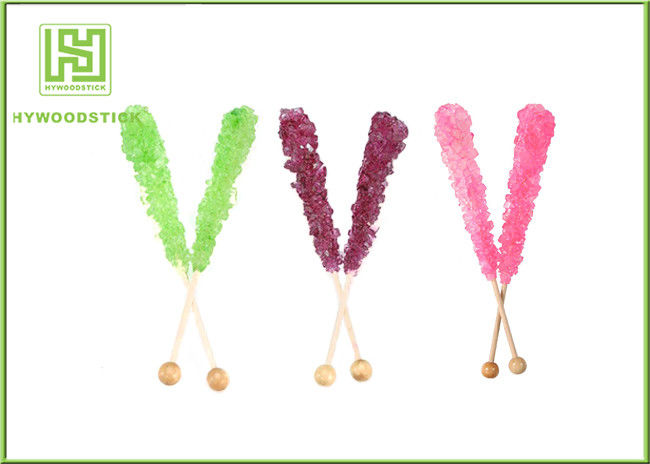 Non - Flavor Decorative Wooden Lollipop Sticks Crystallized Decorate Topper