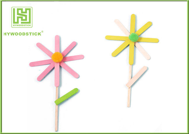 Education DIY Lollipop Sticks , 150 / 200mm Colored Popsicle Sticks Crafts