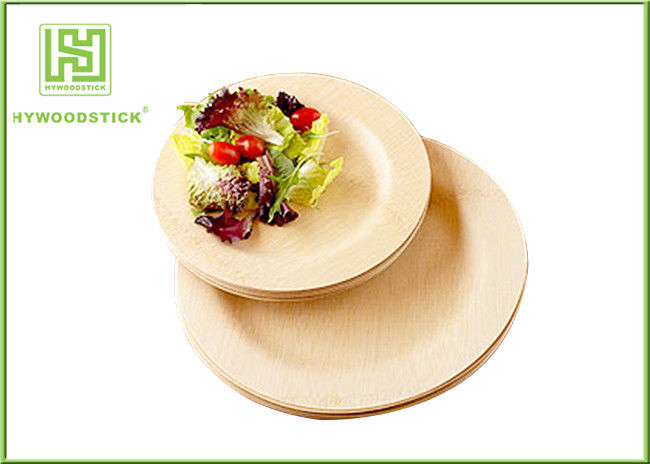 Natural Color Disposable Bamboo Plates Baby Meal Set Taste - Free