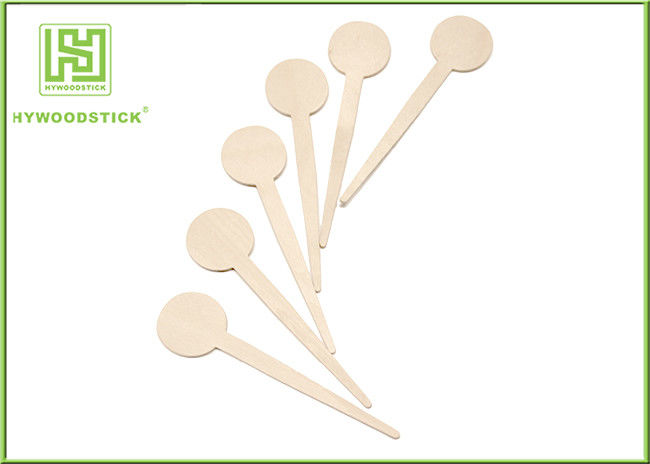 FSC Natural Wooden Coffee Stirrer Sticks Irregular Shape / Linear Beverage Stirrers