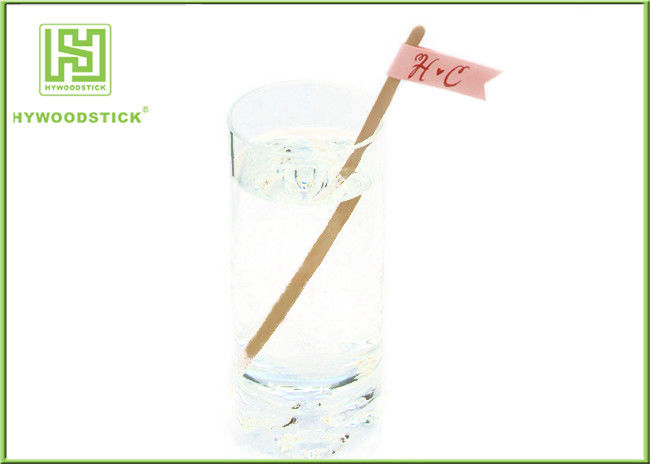 Odorless Disposable Coffee Stirrers Straight / Paddle Shape / Round Head Shape