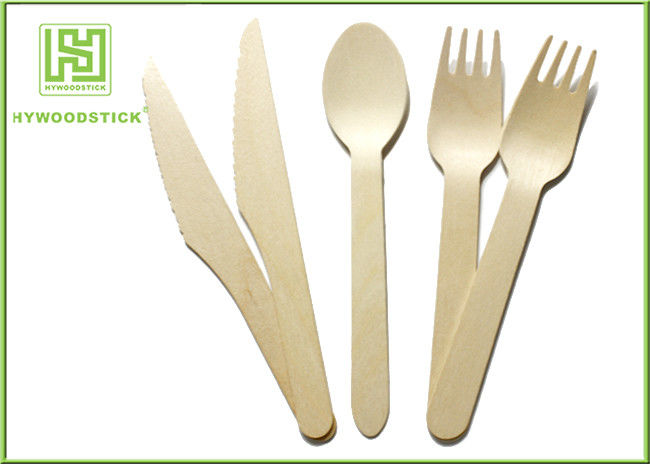 Biodegradable Eco Friendly Disposable Tableware Wooden Cultery Set Spoon Fork Knife