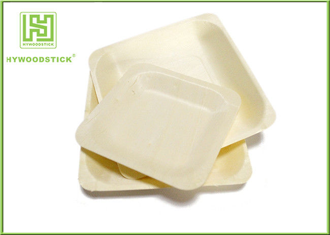 Large Square Disposable Wooden Plates And Utensils Environmental Protection